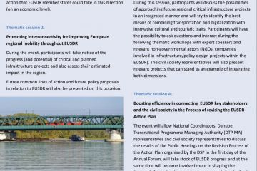 Newsletter - the 8th edition of the EUSDR Annual Forum, Bucharest